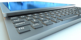 Tablet PC. With a retractable keyboard Stock Photos