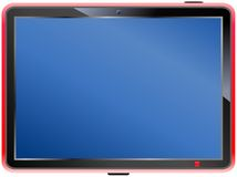 Tablet PC. Blank display, free copy space Stock Images