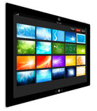 Tablet PC. Designed by foxaon from thailand stock illustration