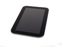 Tablet PC. Over white background stock photography