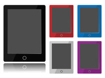 Tablet PC. Layout  with empty screen for use custom image or/and text. Made with overlayed layers for easy change color of tablet border Stock Photography