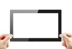 Tablet pc. Black generic tablet pc, 3d render Royalty Free Stock Photos