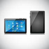 Tablet PC. Easy to edit vector illustration of tablet pc with application royalty free illustration