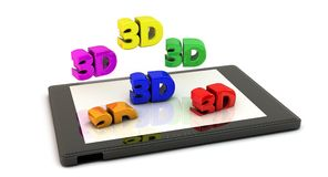 Tablet Pc in 3d Royalty Free Stock Photo
