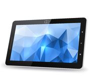 Tablet PC with abstract background Royalty Free Stock Photo