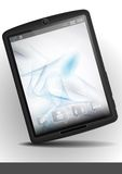 Tablet Pc With Abstract Smoke Background. Royalty Free Stock Images