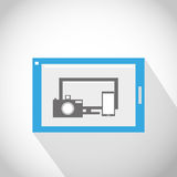 Tablet pc all in one concept. Abstract design Stock Image
