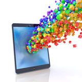 Tablet PC application stream Royalty Free Stock Photo