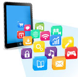 Tablet pc applications Royalty Free Stock Images