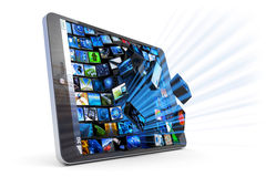 Tablet PC applications Stock Photo