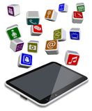 Tablet PC apps Royalty Free Stock Photo