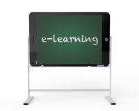 Tablet PC as blackboard stand Royalty Free Stock Images