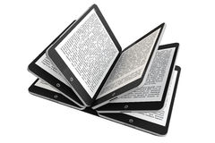 Tablet PC as Book pages Stock Photography