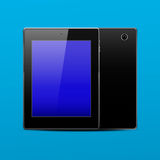 Tablet pc black. Color front and back. EPS 10. Vector illustration Stock Photos