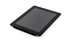 Tablet pc. Black  tablet pc on white background Royalty Free Stock Images
