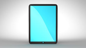 Tablet PC with blue colored screen Stock Photography