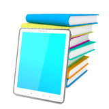 Tablet PC with Books. Education Concept Royalty Free Stock Photos