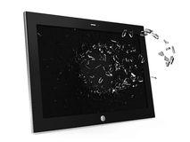 Tablet PC with Broken Display Stock Images