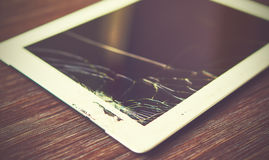Tablet PC is broken Stock Photography