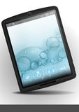 Tablet Pc With Bubble Background. Stock Photography