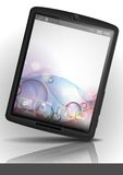 Tablet Pc With Bubble Background. Stock Image