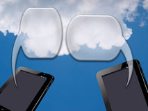 tablet PC and bubble text Royalty Free Stock Photo
