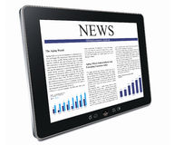 Tablet pc with business article Stock Photos