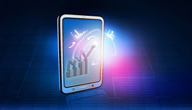 Tablet PC with  business icons Stock Image