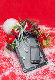 Tablet PC and cell phone black color best Christmas gifts.