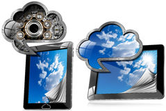 Tablet Pc With Cloud Computing Symbol Royalty Free Stock Photography