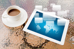 Tablet PC and coffee Royalty Free Stock Photos