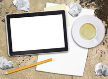 Tablet pc and coffee cup Royalty Free Stock Photo