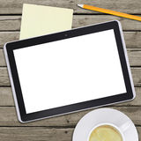 Tablet pc and coffee cup Stock Photo