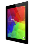Tablet pc with colorful interface Stock Photo