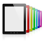 Tablet pc colorful rainbow series Royalty Free Stock Photos