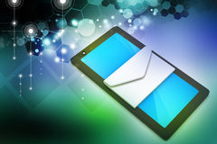 Tablet pc com email Imagem de Stock Royalty Free