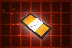 Tablet pc com email Fotos de Stock Royalty Free