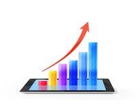 Tablet pc com gráfico Fotografia de Stock
