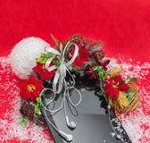 Tablet pc com presente do Natal dos fones de ouvido o melhor Imagem de Stock