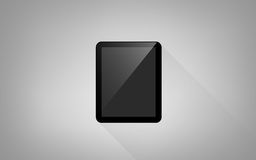 Tablet pc computer with blank black screen Stock Images
