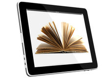 Tablet PC Computer and book Stock Photo