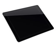 Tablet pc computer isolated on white background. Realistic tablet pc computer with black screen isolated on white background. 3D illustration Stock Images