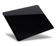 Tablet pc computer isolated on white background. Realistic tablet pc computer with black screen isolated on white background. 3D illustration Royalty Free Stock Photo