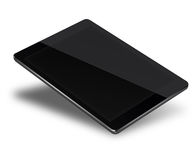 Tablet pc computer isolated on white background. Realistic tablet pc computer with black screen isolated on white background. 3D illustration Stock Photos