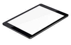 Tablet pc computer isolated on white background. Realistic tablet pc computer with blank screen isolated on white background. 3D illustration Stock Image