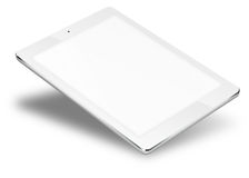 Tablet pc computer isolated on white background. Realistic tablet pc computer with blank screen isolated on white background. 3D illustration Stock Photos