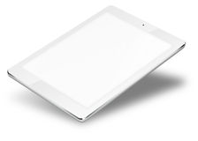 Tablet pc computer isolated on white background. Realistic tablet pc computer with blank screen isolated on white background. 3D illustration Stock Photography