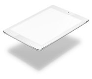 Tablet pc computer isolated on white background. Realistic tablet pc computer with blank screen and shadows isolated on white background. 3D illustration Royalty Free Stock Photos