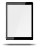 Tablet pc computer isolated on white background. Realistic tablet pc computer with blank screen and shadows isolated on white background. 3D illustration Royalty Free Stock Photography