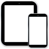 Tablet pc computer and smartphone Royalty Free Stock Photography